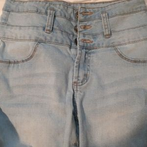 Rue 21 High Rise Ankle Jeggings Light Wash